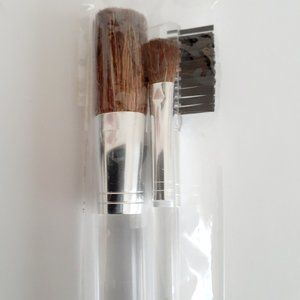 New CLINIQUE 3 Pieces Makeup Clear Brush Set